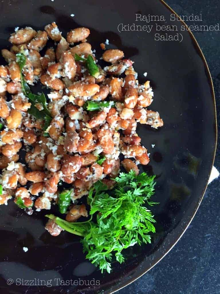 Fresh kidney beans stir fry. This is a No onion no garlic, vegan and GF dish. Sundal is usually served for Navratri (Indian Festival)