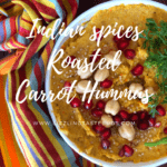 Indian Spice Roasted Carrot Hummus | Vegan, GF and Plant Based