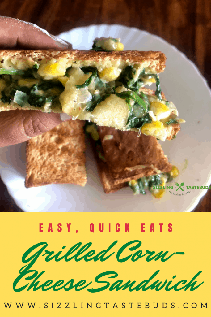 Grilled Corn and Spinach Sandwich