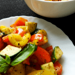 5 Minute Herbed Bell Peppers