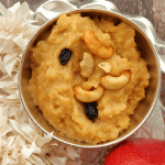 Akkaravadisal - Indian Rice + Lentil Pudding with ghee and jaggery