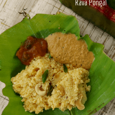A savoury pongal (or pudding) made in Instant Pot with broken wheat grits and lentils. Served as breakfast with chutney and sambhar